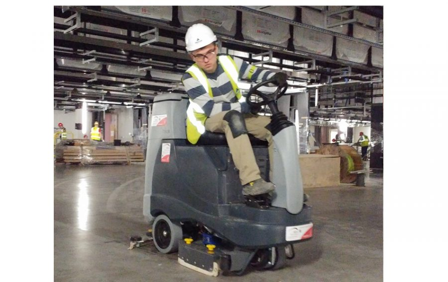 BR755 Industrial Ride On Scrubber Dryer - In Action