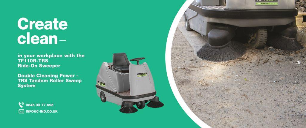 topfloor sweeper cleaning brick dust off factory floor